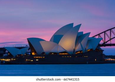 JUNE 25 2017, Sydney - Beautiful Opera House taken during sunset
