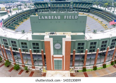 June 25, 2019 - Green Bay, Wisconsin, USA: Historic Lambeau Field, home of the Green Bay Packers and also known as The Frozen Tundra