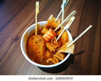 June 26, 2019 - Family Mart Klang, Malaysia. Oden japanese food at local store in Malaysia. Loved by food lovers here.