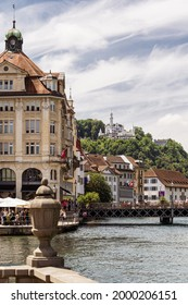 June 26, 2021, Lucerne Riverfront with Chateau Guetsch in the background
