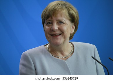 JUNE 27, 2016 - BERLIN: German Chancellor Angela Merkel at a press conference after a meeting with the Ukranaian Prime Minister in the Chanclery.