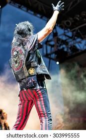 June 28, 2014 - Bay City, Michigan - Alice Cooper performs in concert at Veterans Park in Bay City Michigan
