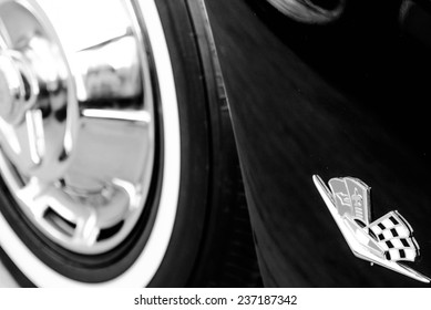 June 28, 2014 - Houston, TX, USA  - 1962 black corvette