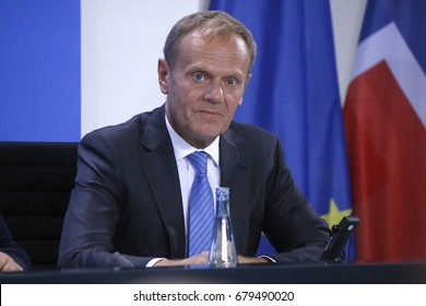 JUNE 29, 2017 - BERLIN: Donald Tusk at the European G20 Preparatorty Sumnmit in the Chanclery in Berlin.