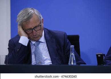 JUNE 29, 2017 - BERLIN: Jean Claude Juncker at the European G20 Preparatorty Sumnmit in the Chanclery in Berlin.