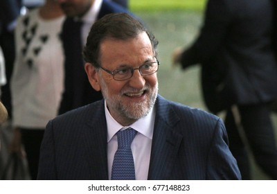 JUNE 29, 2017 - BERLIN: the Prime Minister of the Spain Mariano Rajoy at the European G20 Preparatorty Sumnmit in the Chanclery in Berlin.