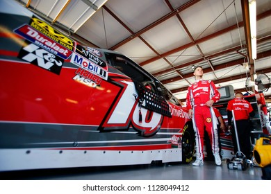 June 29, 2018 - Joliet, Illinois, USA: Ryan Reed (16) gets ready to practice for the Overton's 300 at Chicagoland Speedway in Joliet, Illinois.