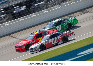 June 30, 2018 - Joliet, Illinois, USA: Cole Custer (00) races off turn four during the Overton's 300 at Chicagoland Speedway in Joliet, Illinois.