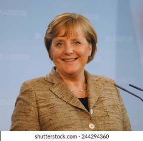 JUNE 4, 2007 - BERLIN: German Chancellor Angela Merkel at a press conference in the Chanclery in Berlin.