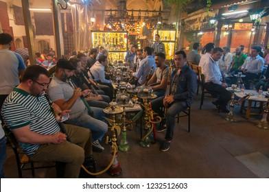 June 4, 2015. Shisha barin in Istanbul, Turkey.