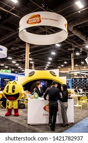 June 4, 2019, LAS VEGAS, NEVADA, USA, Bandai Namco Entertainment Showcases the Pacman Brand at the 2019 Licensing Expo Trade Show