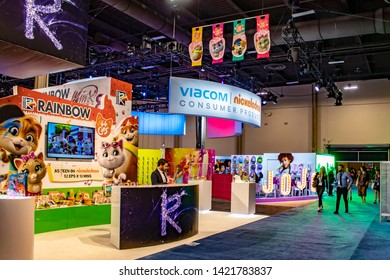 June 4, 2019, LAS VEGAS, NEVADA, USA, Viacom Nickelodeon Consumer Products Showcases their Brands, including the Rainbow Studio and their New TV Show 44 Cats at the 2019 Licensing Expo