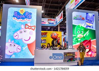 June 4, 2019, LAS VEGAS, NEVADA, USA, Entertainment One Licensing Showcases Several of their Brands, Including Peppa Pig and PJ Masks, at the 2019 Licensing Expo Trade Show