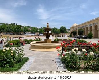 JUNE 4, 2019-BAKU AZERBAIJAN : The Shamakhi Juma Mosque is a mosque in Juma Mosque.