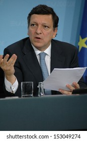 JUNE 5, 2007 - BERLIN: Jose Manuel Barroso at a press conference after the EU-Japan summit in the Chanclery in Berlin.