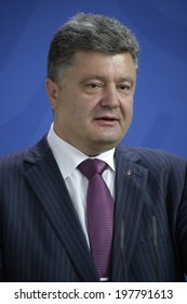 JUNE 5, 2014 - BERLIN: the newly elected Ukrainian President Petro Poroshenko at a press conference before a meeting with the German Chancellor in the Chanclery in Berlin.