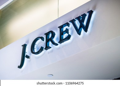 June 5, 2018 Milpitas / CA / USA - J. Crew logo above a store located in south San Francisco bay area