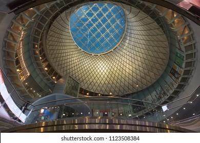 JUNE 5, 2018 - New York, NY, USA - Sky Reflector-Net at the Fulton Center