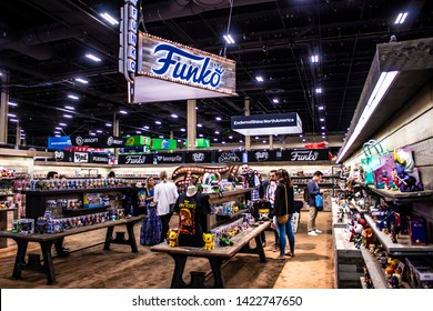 June 5, 2019, LAS VEGAS, NEVADA, USA, Attendees Check out the Thousands of Products on Display at the Funko Booth at the 2019 Licensing Expo Trade Show