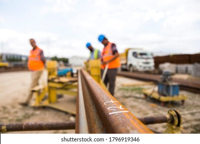 June 6, 2016. railway construction. istanbul, turkey