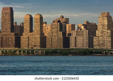 JUNE 6, 2018 - NY, New York, USA - Condos and Apartment buildings on the Hudson River, Upper west side