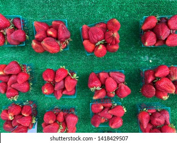 June 6th, 2019 - Chico, California - Berries sold at the market which happens every thursday in Chico, California
