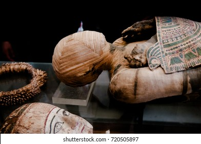 JUNE 8, 2011 PARIS, France : Pharaonic Egypt The mummy Embalming and funeral Louvre Museum Paris