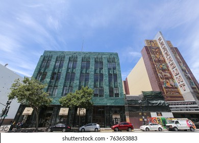 June 8, 2016 - Uptown Neighborhood of Oakland, California. Uptown is the art and entertainment center of Oakland featuring many bars, cafes, theaters, restaurants and love music venues.