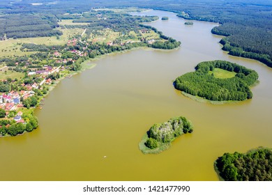 June flowering of water in the lake Omulew in Masuria in Poland