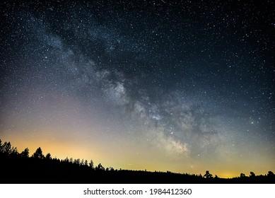 June Milky Way in the night sky.