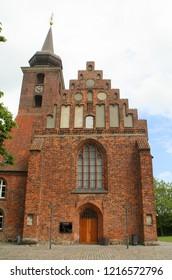 Nykøbing. June-08-2017. Klosterkirken from the 15th century in Nykøbing on the island Falster. Denmark