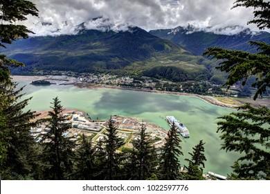 Juneau Alaska Aerial View