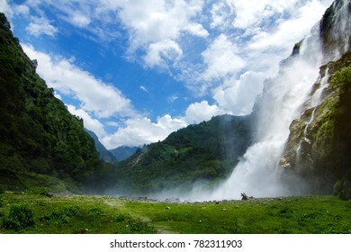 The Jung waterfall also known as Nuranang Falls, 26km far from Tawang,IND, not less than a heaven, the natural beauty of this place can't be explained with a single image, the hide and seek of clouds.