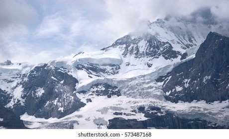 Jungfrau. The highest mountain in the Bernese Alps, Switzerland.