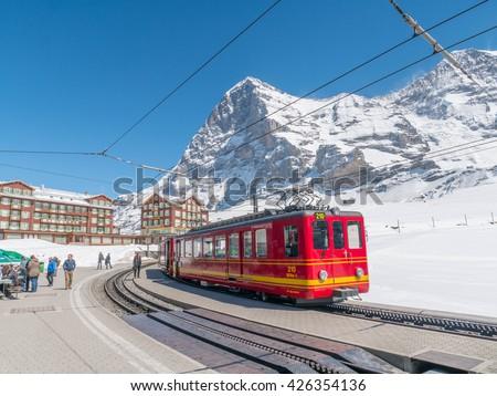Jungfrau Switzerland May 2016 Railway Stock Photo Edit Now