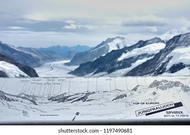 JUNGFRAU, SWITZERLAND - SEPTBER 19, 2011: The Jungfraujoch is accessible to tourists by the Jungfrau line, a railway from Interlaken. Jungfraujoch is notable saddle in the Bernese Alps, top of Europe.