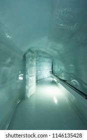Jungfraujoch, Bernese Alps, Switzerland / 07/12/2018 - Tunnel  in the Ice Palace