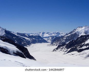Jungfraujoch captured at the top of Europe. Switzerland.