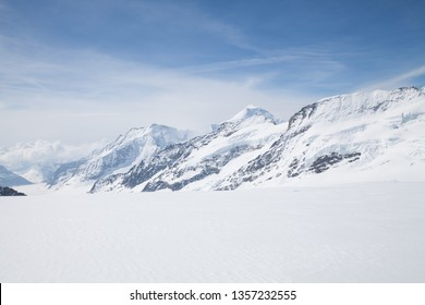 Jungfraujoch is a famous travel mountain of the Alps, Switzerland