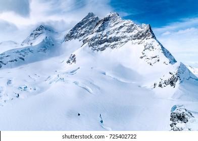 Jungfraujoch from the Jungfrau Railway