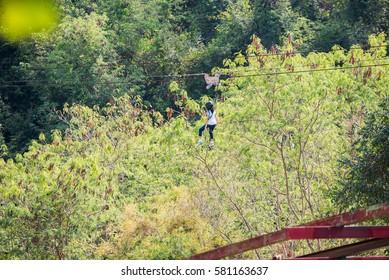 jungle flight, zip line