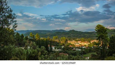 jungle rain forest nature panorama village environment tropic country side landmark beautiful scenic place in evening sunny place