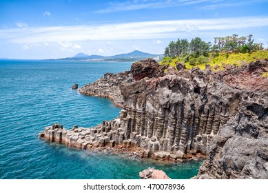 Jungmun Daepo Coast Jusangjeolli Cliff, Jeju Island, South Korea