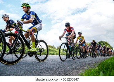 Junior Tour of Wales 2016. Abergavenny, Wales UK. August-28-2016  , Chasing Peloton stage 4
