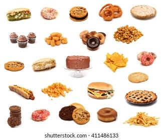 Junk Food Collage