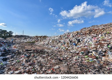 Junk mountains.The waste from urban and industrial areas. It is difficult to digest by natural means. There are steps to manage the difficult disposal. It requires a large area of storage.