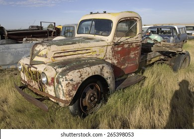 Junk truck in field near South Dakota and Nebraska border