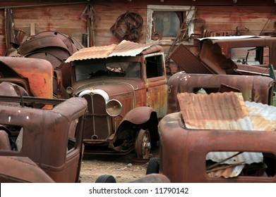 Junk Yard of Vintage Cars