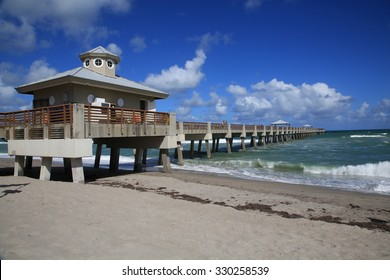 The Juno Beach Fishing Pier on the Atlantic Ocean.