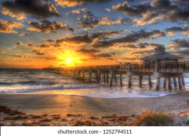 Juno Beach Pier Sunrise